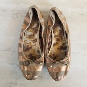 Sam Edelman Felicia Striped Leather Ballerina Flat